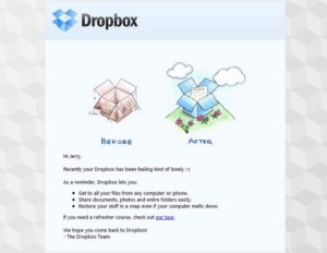 marketing ejemplos de éxito que te ayudaran dropbox